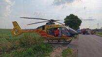 23-letni motocyklista ranny podczas groźnego wypadku wSkomlinie
