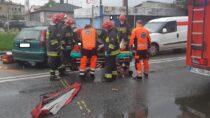 Dwie osoby poszkodowane naskutek wypadku naul.Głowackiego wWieluniu