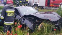 Nadrodze krajowej nr45 wGaszynie doszło dozdarzenia drogowego