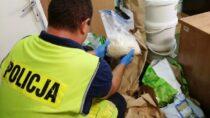 Zatrzymano 4 osoby wewspólnej akcji wieluńskich kryminalnych iKWP wŁodzi