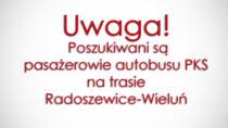 Wieluński sanepid poszukuje pasażerów autobusu PKS natrasie Radoszewice-Wieluń