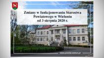Starostwo Powiatowe wWieluniu niedostępne do7 sierpnia 2020 r.