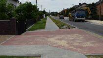 Trwa remont drogi powiatowej nr4510E wmiejscowości Mokrsko