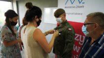 Medale zahonorowe krwiodawstwo dla łódzkich Terytorialsów