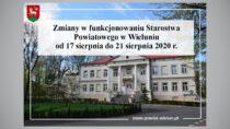 Starostwo Powiatowe wWieluniu dalej niedostępne. Tym razem do21 sierpnia 2020 r.
