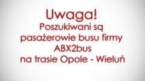 Oleski sanepid poszukuje pasażerów busu firmy ABX2bus natrasie Opole – Wieluń