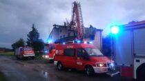 20 razy wyjeżdżali strażacy wsobotę dointerwencji zpowodu burzy