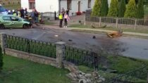 Wieluńska prokuratura nadzoruje śledztwo wsprawie wypadku drogowego wMieleszynie