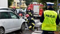 Nieudzielenie pierwszeństwa przejazdu przyczyną wypadku drogowego wWieluniu