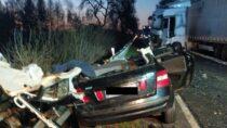 Wypadek drogowy wPątnowie. Nieżyje 29-letni mieszkaniec powiatu wieluńskiego