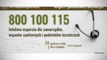 800 100 115 – nowa infolinia wsparcia dla samorządów, podmiotów leczniczych iorganów sanitarnych