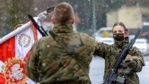 Przysięga Terytorialsów wrocznicę wybuchu powstania listopadowego