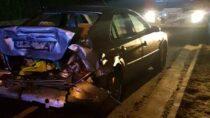 Zderzenie samochodu osobowego zbusem wDzietrznikach
