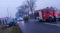 2 osoby zobrażeniami naskutek zderzenia wKraszkowicach