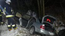 Cztery zastępy straży gasiły pożar samochodu natrasie Czernice – Konopnica