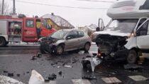 Wypadek wDąbrowie. 40-latek zpoważnymi obrażeniami