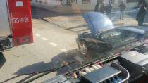 WWieluniu doszło dopożaru samochodu osobowego
