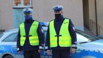 Policjanci zwieluńskiej komendy eskortowali rodziców zchorym dzieckiem
