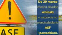 Do29 marca wnioski odofinansowanie nainwestycje chroniące przedASF lub powodzią