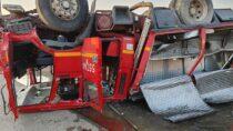Na190 km drogi DK nr45 doszło dowypadku. Ucierpieli strażacy zOSP Janów
