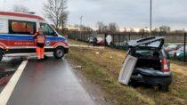 3 osoby ranne naskutek wypadku wKuźnicy Skakawskiej gm. Wieruszów