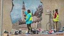 Powstaje kolejny mural namurze przy Klasztorze Sióstr Bernardynek