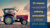 31 marca ruszają dwa nabory wniosków zPROW 2014-2020