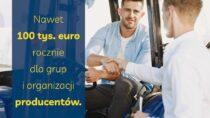 Nawet 100 tys. euro rocznie dla grup iorganizacji producentów