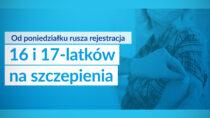 Odponiedziałku 17 maja rejestracja 16 i17-latków naszczepienia