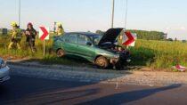 Pijany kierujący doprowadził wRaczynie dokolizji drogowej