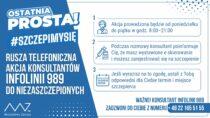 Doniezaszczepionych przeciw COVID-19 będą dzwonili konsultanci