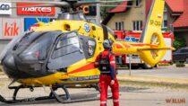 40-latek wWieluniu spadł zII piętra. Śmigłowiec LPR zabrał go doszpitala