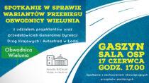 WGaszynie odbędzie się spotkanie dotyczące wariantów projektowanej obwodnicy Wielunia