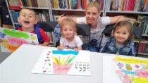 Przedszkolaki zKurowa wFilii Bibliotecznej wTurowie poznały zdrowe odżywianie