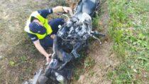 28-letni motocyklista naskutek wypadku zobrażeniami wszpitalu