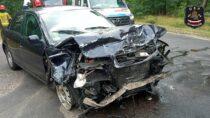Zderzenie ciężarówki zaudi pomiędzy miejscowościami Szynkielów iStolec