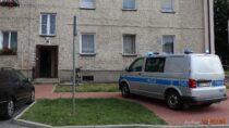 Wbloku przy ul.Skłodowskiej wWieluniu znaleziono ciało zmarłego mężczyzny