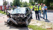 Poważny wypadek naDK 43 wWieluniu. Trzy osoby poszkodowane