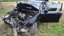 Groźny wypadek naDK 42. Kierujący Nissanem wstanie ciężkim wszpitalu