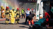 Naterenie SDM wWieluniu przeprowadzono ćwiczenia doskonalące współpracę służb ratunkowych